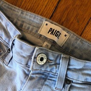 Paige light wash denim size 25